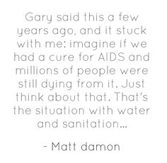 Imagine if we had a cure for AIDS, an people were still dying from it...