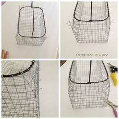 DIY Wire Baskets --they look sturdier than the ones made with just chicken wire