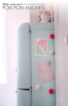 Pom Pom Magnets - Home Decor DIYs - Photos