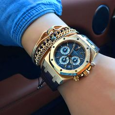 Audemars Piguet - Royal Oak Chronograph Pink Gold Leather Bracelet Ref. 26320OR.OO.D002CR.01 @ellamois