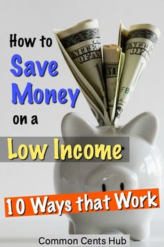 You can save money on a low income if you have a strategy. Here are 10 save money tips that'll help you to budget, eliminate debt and turn your frugal living into wealth building. Save Money On Groceries, Ways To Save Money, Money Tips, Money Saving Tips, How To Make Money, Money Saving Challenge, Frugal Living Tips, Budgeting Tips, Money Matters