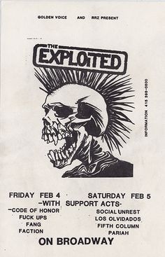 The Exploited - early SF shows, via Flickr.
