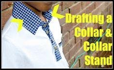 Drafting a Collar & Stand || Littlekidsgrow.com