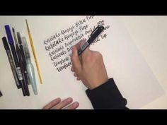 Brush Lettering: 8 Basic Strokes with Brush Pen Comparisons | The Pigeon Letters | Hand Lettering & Illustrative Design