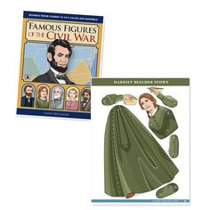 "Famous Figures of the Civil War: Movable Paper Figures to Cut, Color, and Assemble, by Cathy Diez-Luckie, allows children to perform their own historical reenactments or create new stories using ten of the most important figures of the Civil War. Figures include Abraham Lincoln, Clara Barton, a Confederate soldier, Frederick Douglass, Harriet Beecher Stowe, Harriet Tubman, Robert E. Lee, Thomas ""Stonewall"" Jackson, Ulysses S. Grant, and a Union soldier. $15.95 at Timberdoodle."
