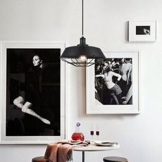 home interior: Living Room With Black White Photography, Supplemented By Round Table, Wooden Stools And Three Black Pendant Lights: Beautiful Blends Between Contemporary Luxury And Creative Design In Eclectic Loft In Toronto Estilo Interior, Contemporary Interior, Interior Styling, Interior Decorating, Interior Design, Decorating Ideas, Decor Ideas, Loft Design, Deco Design