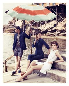 Old school Italian riviera style photo - Makes me want a retro bathing suit and a serious tan...