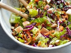 1100 kcal balanced menu - vegan recipes - vegetarian recipes - raw recipes - lunch - Cabbage and Carrot Salad with Agave-Dijon Dressing Crunch Salad Recipe, Carrot Salad Recipes, Vegetarian Recipes, Cooking Recipes, Healthy Recipes, Raw Recipes, Recipies, Clean Eating, Healthy Eating