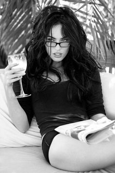 Megan Fox. Why can't I look like this when I wear my hair down and glasses?!