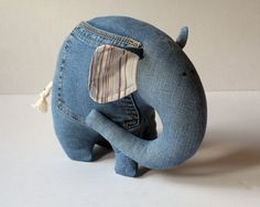 Tooth Fairy Elephant stuffed toy for kids by andreavida on Etsy