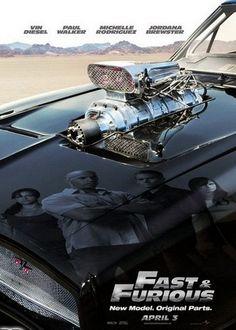 Fast & Furious 4 (2009). Official movie poster. Vin Diesel, Paul Walker, Michelle Rodriguez, Jordana Brewster, Tyrese, Ludacris.