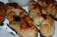 Lebanese Chicken Kafta with Cucumber Yogurt sauce - chicken makes it very light!