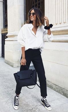Smart Casual Women, Smart Casual Outfit, Casual Chic, Casual Outfits, Fashion Outfits, Summer Smart Casual, Outfits Camisa Blanca, Outfits Con Camisa, Fashion Fail