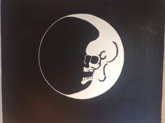 Dead Moon Mural I painted in my hubby's record shop......
