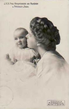 Queen Marie with her youngest daughter and youngest child, Princess Ileana. Queen Victoria Descendants, Romanian Royal Family, Youngest Child, Granddaughters, Royal Jewels, Ferdinand, Mother And Child, Old World, Austria