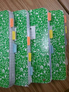 I like the idea of tabs in the writers notebook/ learning log (The Middle School Mouth blog)