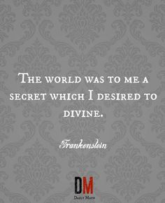 Quotes From Frankenstein Pinnoelani Medeiros On Romanticism And Frankenstein  Pinterest .