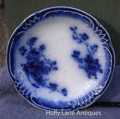 ~Antique Flow Blue Butter Pat~