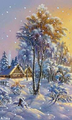 A country Christmas. Download Animated 240x400 «зима» Cell Phone Wallpaper. Category: Nature ..