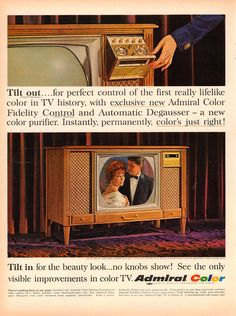 1964 Admiral Color Television Advertisement Life Magazine December 25 1964