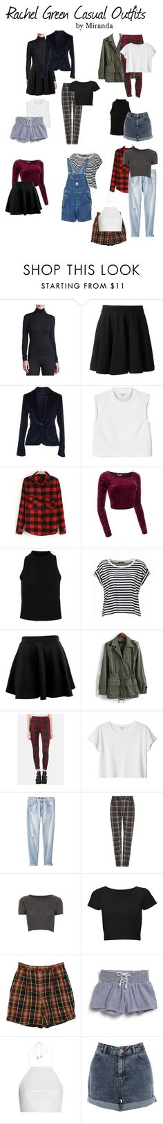 """Rachel Green Casual Outfits"" by sleep-alone ❤ liked on Polyvore featuring Hanro, Plein Sud, 57 T, Monki, TheLeesW, Topshop, Mossimo, Étoile Isabel Marant, Lipsy and Izod"