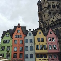 Colorful buildings in Köln, #Germany. Photo courtesy of sarenabee on Instagram.