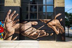 The Falling – The street art of James Bullough (image)