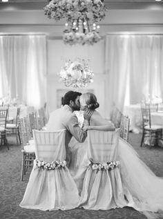 Kissing at the Reception - Wedding look