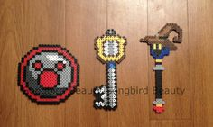 Kingdom hearts weapons geekery perler Goofy by SongbirdBeauty, $6.00  Check out the latest items in my etsy store at www.etsy.com/shop/songbirdbeauty