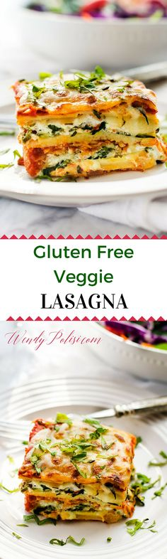 Gluten Free Veggie Lasagna - This gluten-free veggie lasagna is easy to make and so delicious!  With spinach, zucchini and a farm fresh tomato sauce, it is a meal the whole family will love! #PickedAtPeak