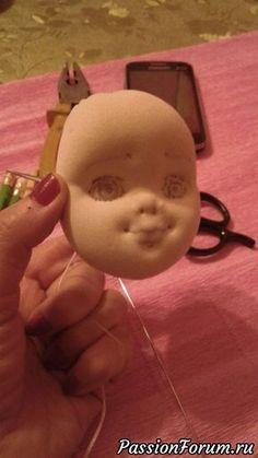 Мастер-класс по шитью головки для текстильной куклы. Часть3