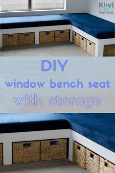 Diy storage 517632550920243011 - DIY window bench seat with storage. A window bench seat with storage makes the most of confined spaces. Without losing much floor space, you gain a whole seating area, plus awesome storage!