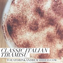 A classic Italian dessert for any get together is the perfect treat.  Make this easy tiramisu for your next party. | Italian cuisine and desserts | Delicious, creamy, espresso soaked lady fingers with mascarpone cheese for this delicious European sweet dessert.