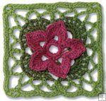 Granny Square Flower Garden http://www.maggiescrochet.com/granny-square-flower-garden-p-2667.html #granny #flower #garden #crochet