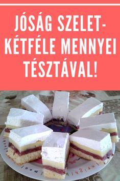 Kétféle mennyei tésztával! #sütemény #szelet