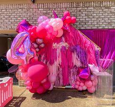 Balloon Arch, Balloons, Full Fringe, Balloon Decorations, Balloon Ideas, Ceiling Installation, Barbie Birthday, Paw Patrol Birthday, Streamers