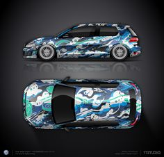 Wrap design concept #11 Breath of wind for VW Golf GTI