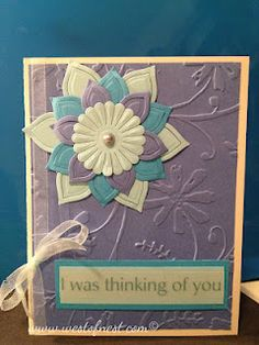 Analogous colored all occasion card in blues.