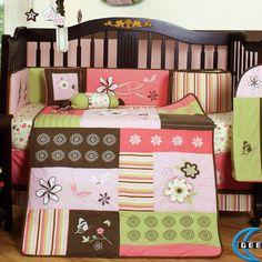 floral baby bedding | Floral Dream 13 Piece Crib Bedding Set