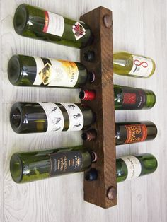 Unique Christmas Gift Wine Rack 8 Bottle High Capacity
