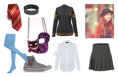 """GRYFFINDOR PRIDE"" by madabby1 ❤ liked on Polyvore featuring Piazza Sempione, Converse and Hue"