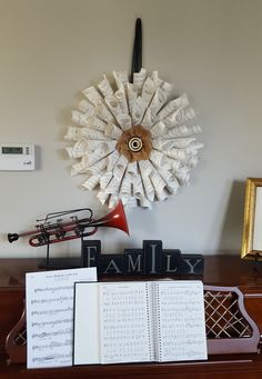 Music Sheet Wreath #DIY #ReccycleCrafts Holiday Activities For Kids, Valentine Activities, Creative Activities, Stem Activities, Valentine Candy Hearts, Valentines For Singles, Winter Moon, Recycled Crafts, Kids Learning
