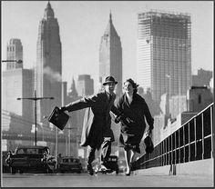 Hand in Hand, Brooklyn Bridge, by Norman Parkinson