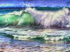 Atlantic Waves, painting by Elizabeth Coats