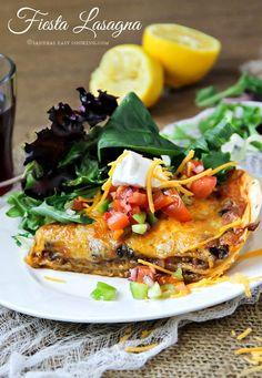Fiesta Lasagna #homemade #recipe #foodie
