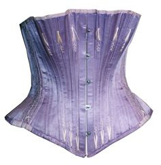 Bust In Satin Lilac Lined In Twill White Cotton   c.1897  -  Abiti Antichi