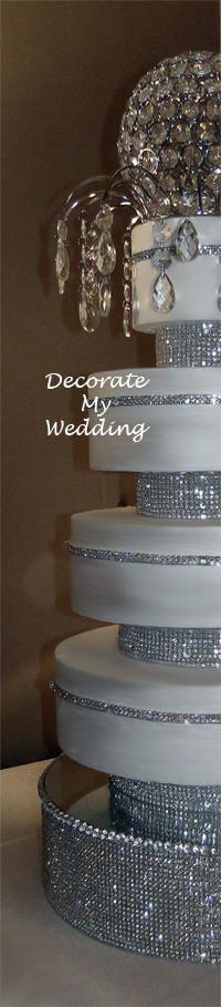 DECORATE MY WEDDING Unique Wedding Cake Designs - Rhinestone Risers