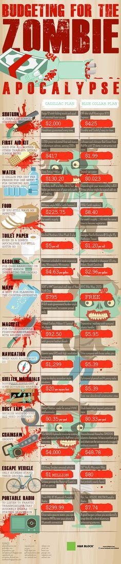 Budgeting for the Zombie Apocalypse - for future reference