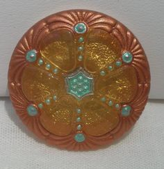 Wheel Czech Glass Button by MostlyButtons on Etsy, $5.00