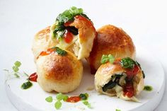 Spinach and cheese bombs